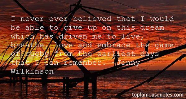 Jonny Wilkinson Quotes
