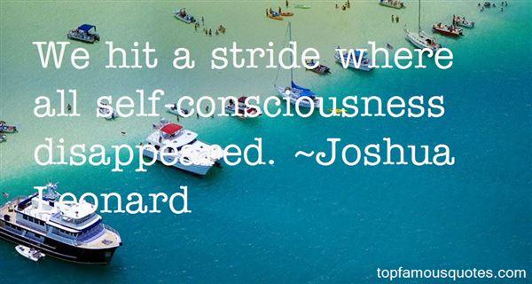 Joshua Leonard Quotes