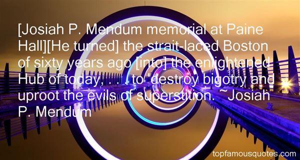 Josiah P. Mendum Quotes