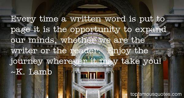 K. Lamb Quotes