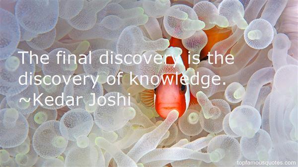 Kedar Joshi Quotes