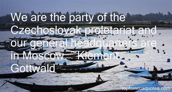 Klement Gottwald Quotes