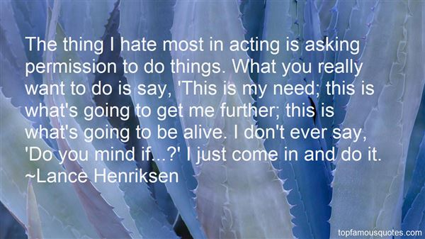 Lance Henriksen Quotes