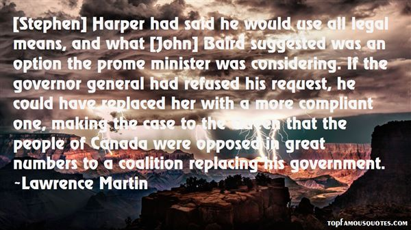 Lawrence Martin Quotes
