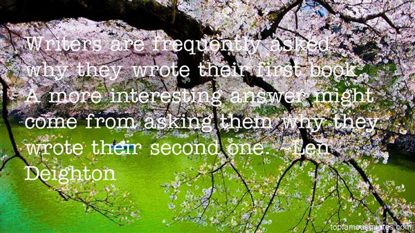 Len Deighton Quotes