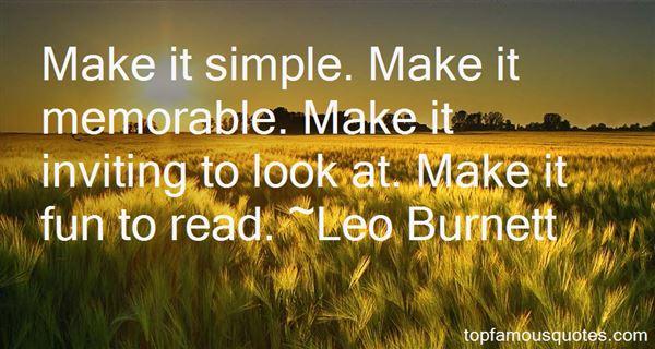 Leo Burnett Quotes