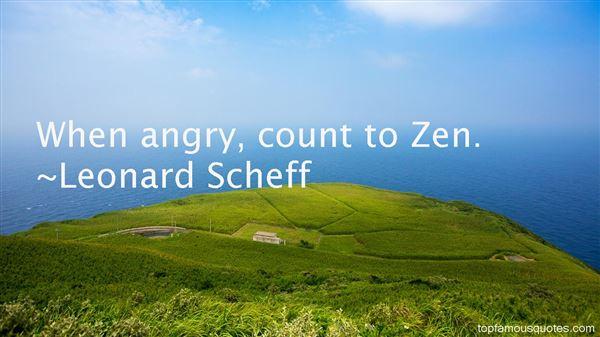 Leonard Scheff Quotes