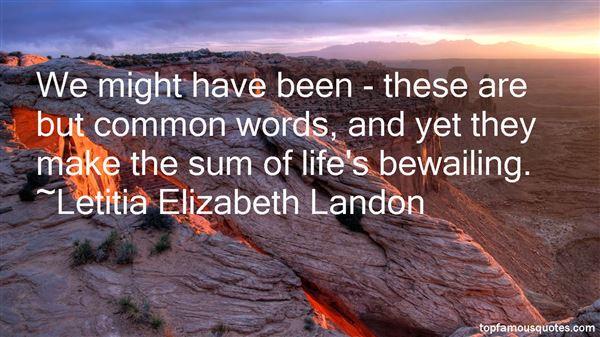 Letitia Elizabeth Landon Quotes
