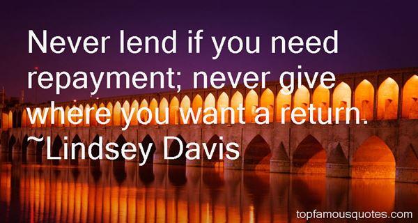 Lindsey Davis Quotes