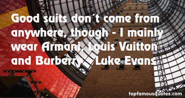 Luke Evans Quotes