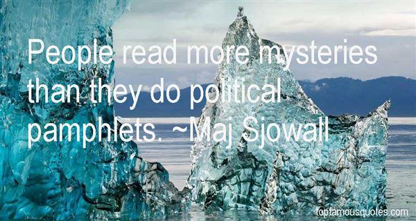 Maj Sjowall Quotes