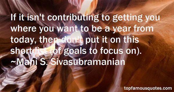 Mani S. Sivasubramanian Quotes