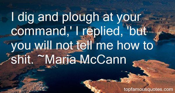 Maria McCann Quotes