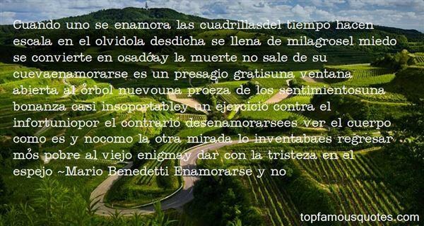 Mario Benedetti Enamorarse Y No Quotes