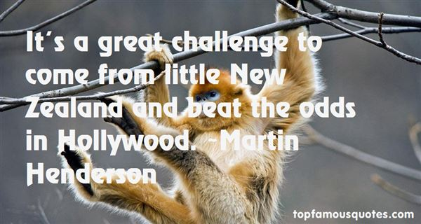 Martin Henderson Quotes