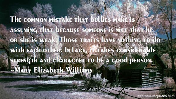 Mary Elizabeth Williams Quotes