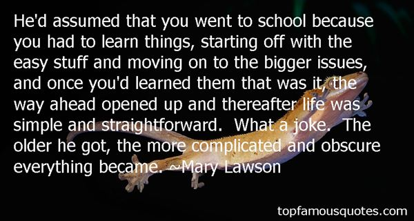 Mary Lawson Quotes