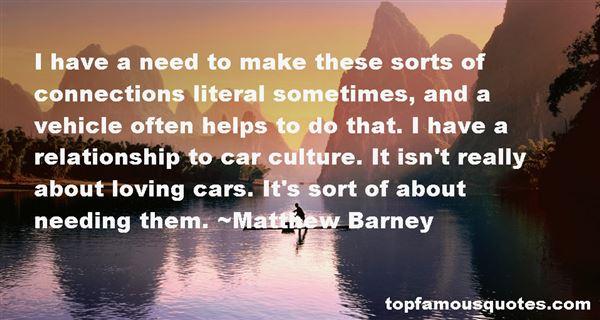 Matthew Barney Quotes