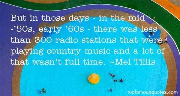 Mel Tillis Quotes