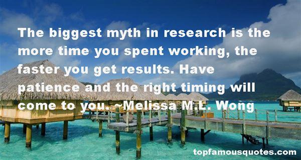 Melissa M.L. Wong Quotes