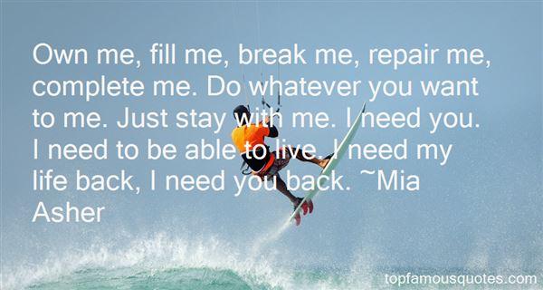 Mia Asher Quotes