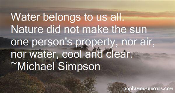 Michael Simpson Quotes