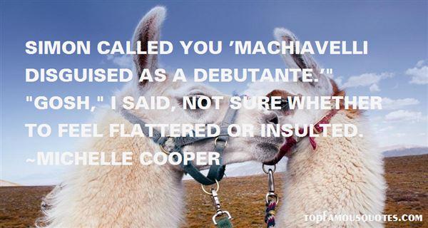 Michelle Cooper Quotes