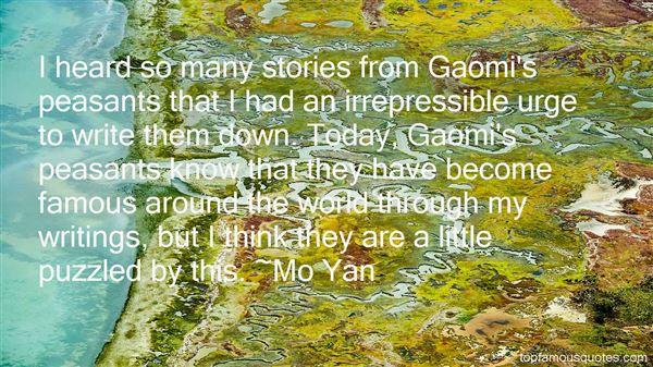 Mo Yan Quotes
