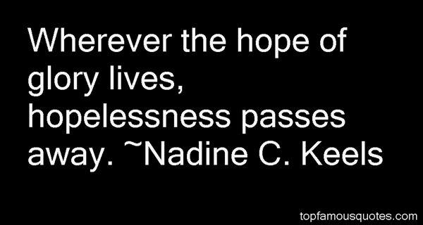 Nadine C. Keels Quotes