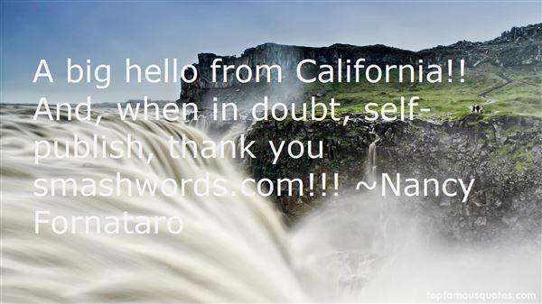 Nancy Fornataro Quotes