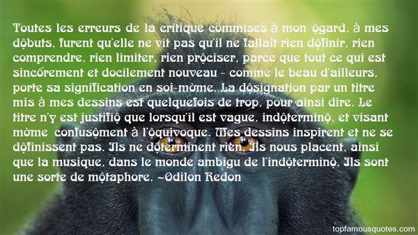 Odilon Redon Quotes