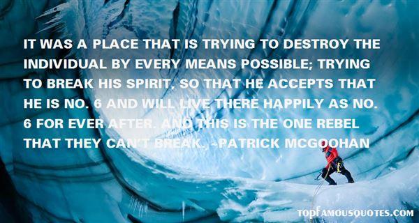 Patrick McGoohan Quotes