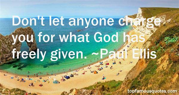 Paul Ellis Quotes