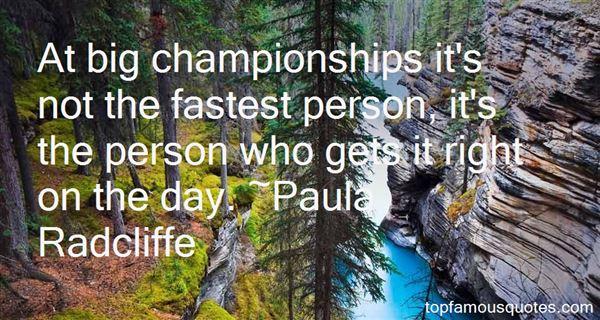 Paula Radcliffe Quotes