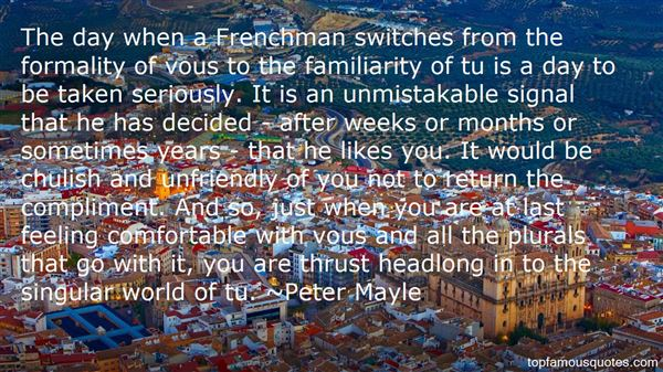 Peter Mayle Quotes