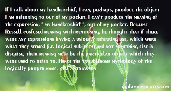 P.F. Strawson Quotes