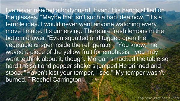 Rachel Carrington Quotes