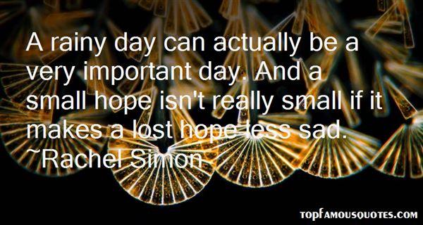 Rachel Simon Quotes