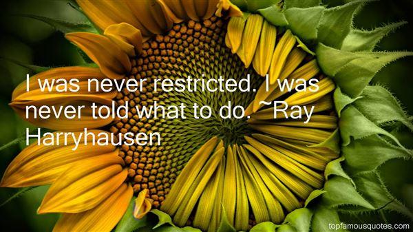 Ray Harryhausen Quotes