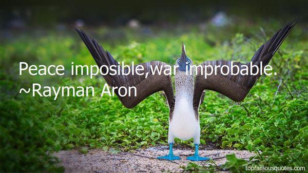 Rayman Aron Quotes