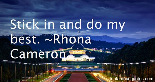 Rhona Cameron Quotes