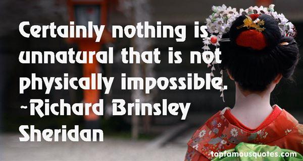 Richard Brinsley Sheridan Quotes