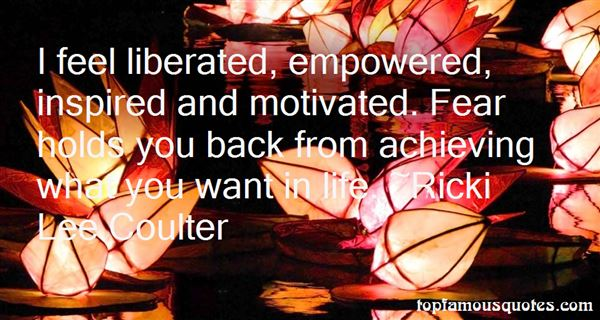 Ricki Lee Coulter Quotes