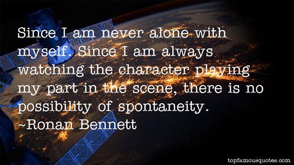 Ronan Bennett Quotes