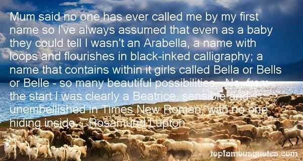 Rosamund Lupton Quotes