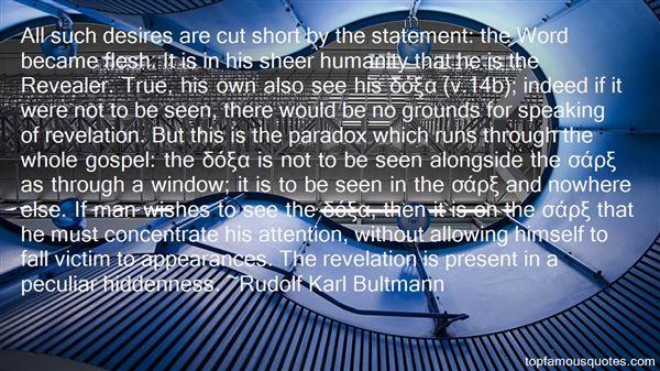 Rudolf Karl Bultmann Quotes