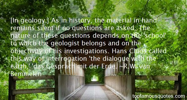 R.W. Van Bemmelen Quotes