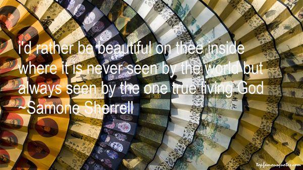 Samone Sherrell Quotes