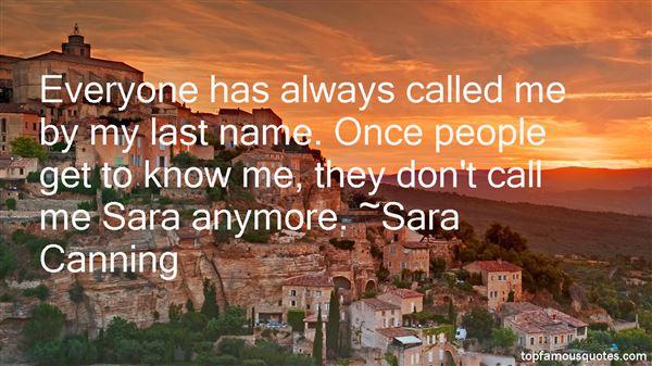 Sara Canning Quotes