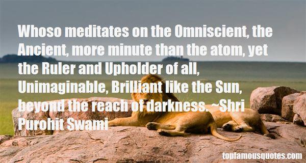 Shri Purohit Swami Quotes